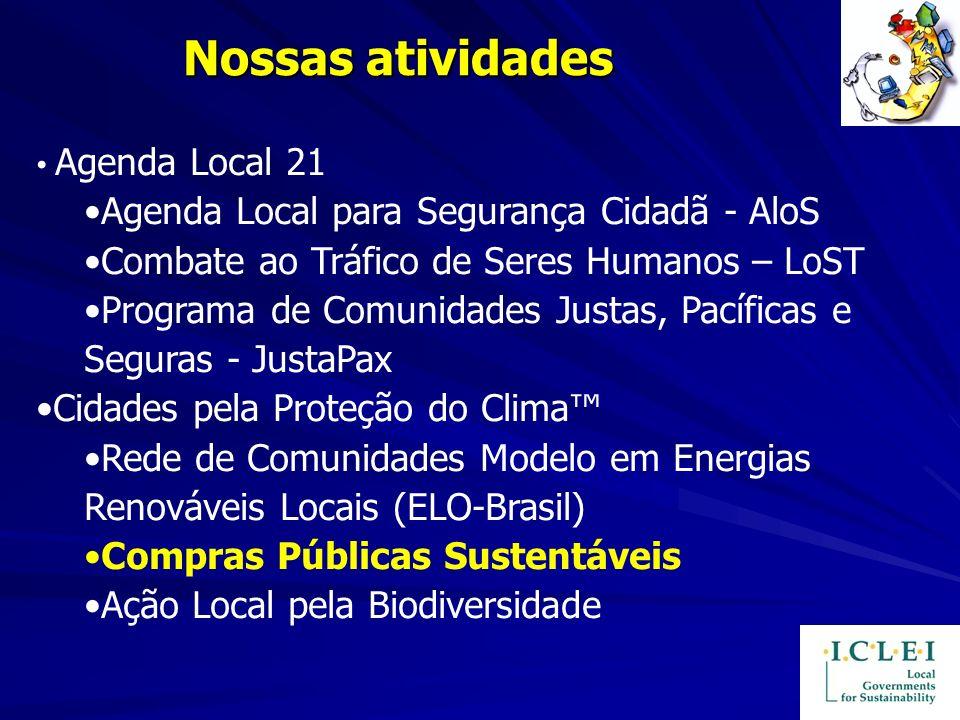 Nossas atividades Agenda Local para Segurança Cidadã - AloS