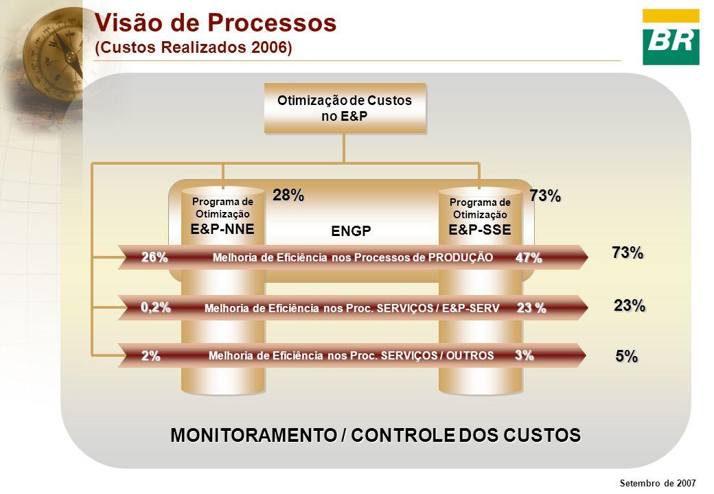 Visão de Processos (Custos Realizados 2006)