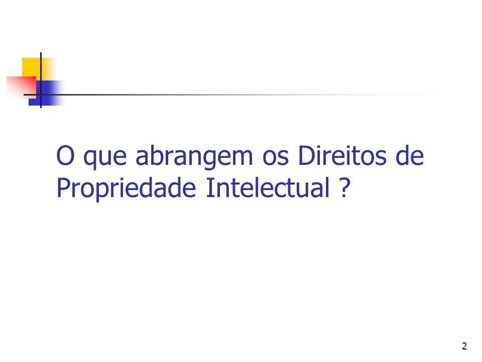 O que abrangem os Direitos de Propriedade Intelectual