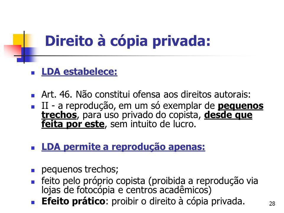 Direito à cópia privada:
