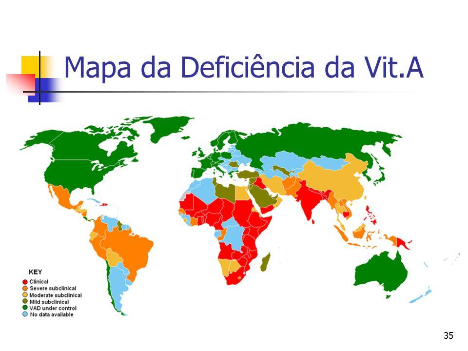 Mapa da Deficiência da Vit.A