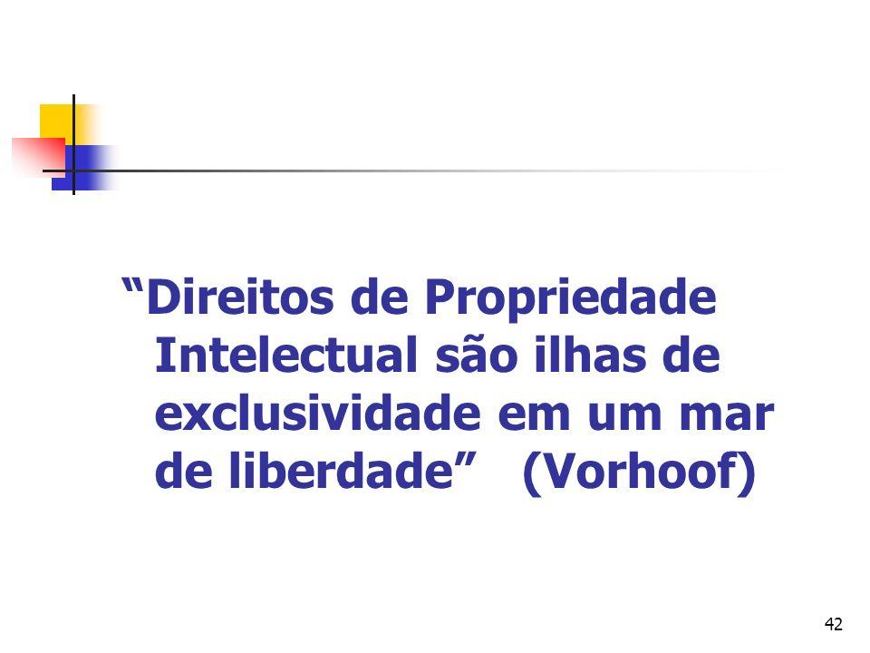 Direitos de Propriedade Intelectual são ilhas de exclusividade em um mar de liberdade (Vorhoof)