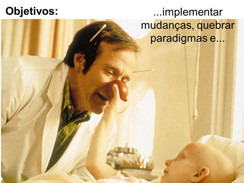 Objetivos: ...implementar mudanças, quebrar paradigmas e...