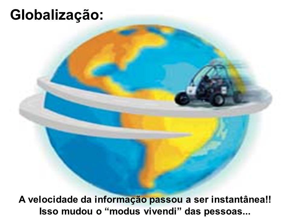 GIobalização: A velocidade da informação passou a ser instantânea!!