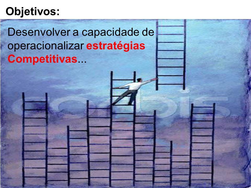 Objetivos: Desenvolver a capacidade de operacionalizar estratégias Competitivas...