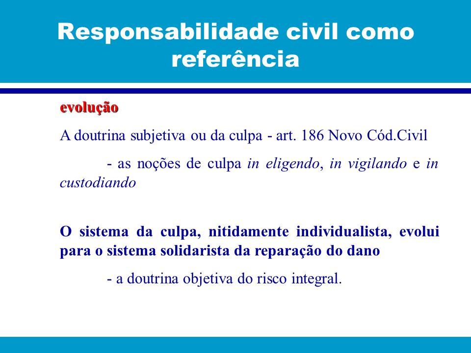 Responsabilidade civil como referência