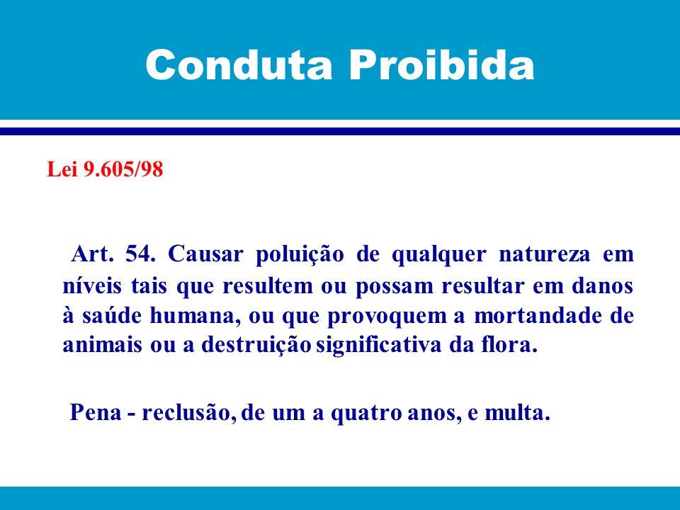 Conduta Proibida Lei 9.605/98.