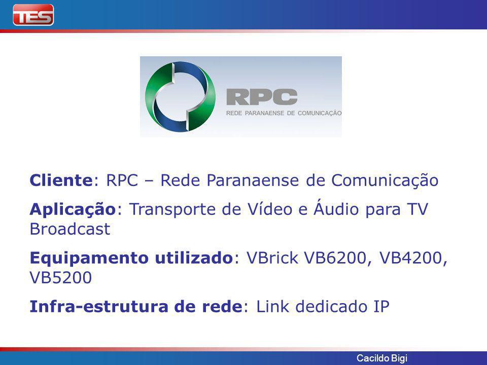 Cliente: RPC – Rede Paranaense de Comunicação