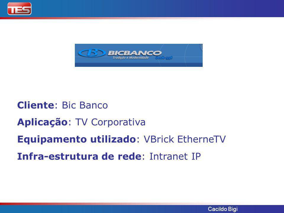 Aplicação: TV Corporativa Equipamento utilizado: VBrick EtherneTV