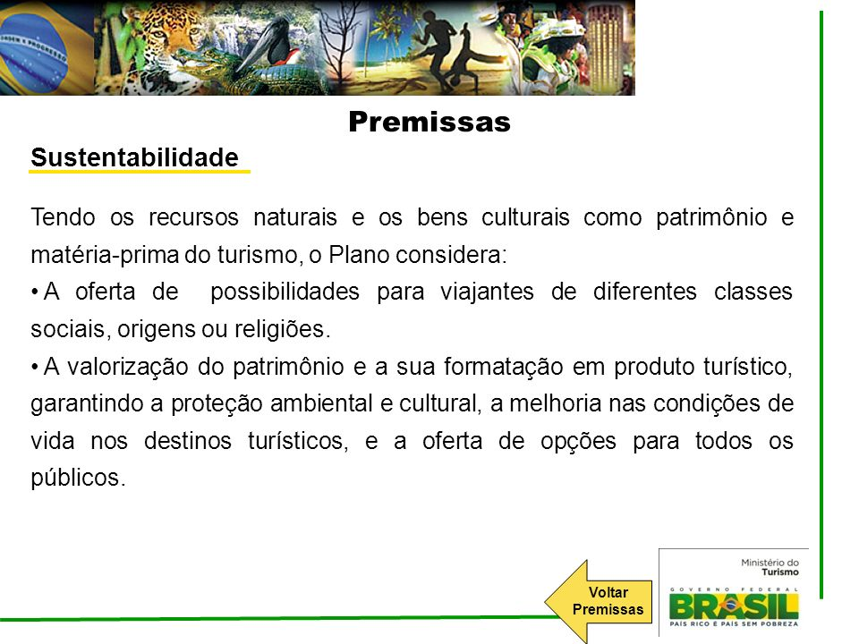 Premissas Sustentabilidade