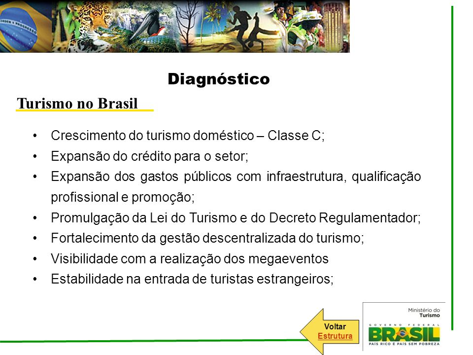 Diagnóstico Turismo no Brasil