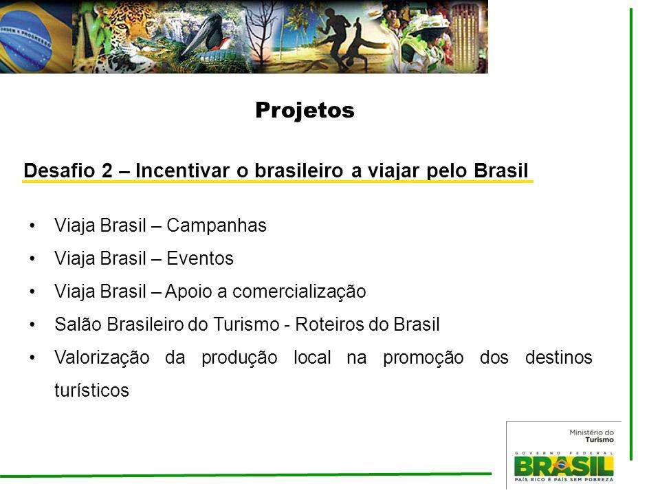Projetos Desafio 2 – Incentivar o brasileiro a viajar pelo Brasil