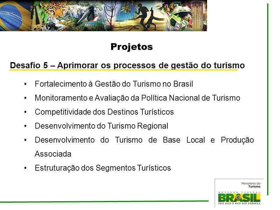 Projetos Desafio 5 – Aprimorar os processos de gestão do turismo
