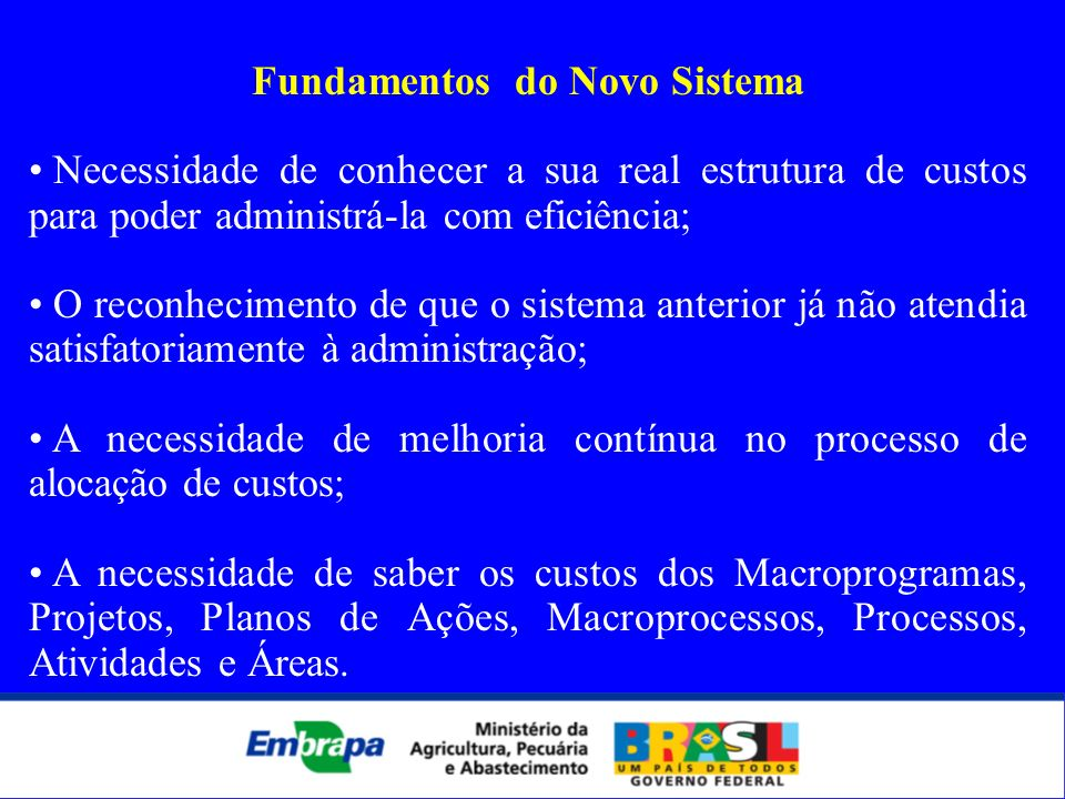 Fundamentos do Novo Sistema