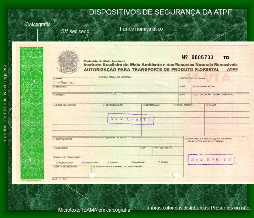 DISPOSITIVOS DE SEGURANÇA DA ATPF
