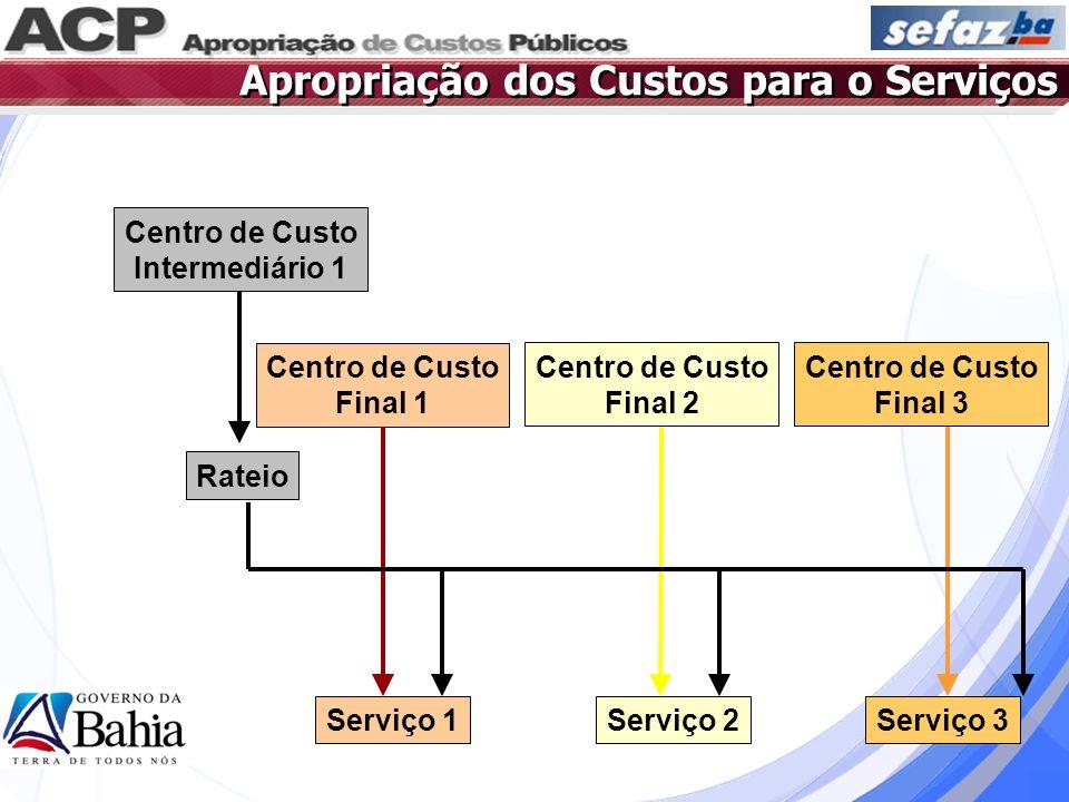 Apropriação dos Custos para o Serviços