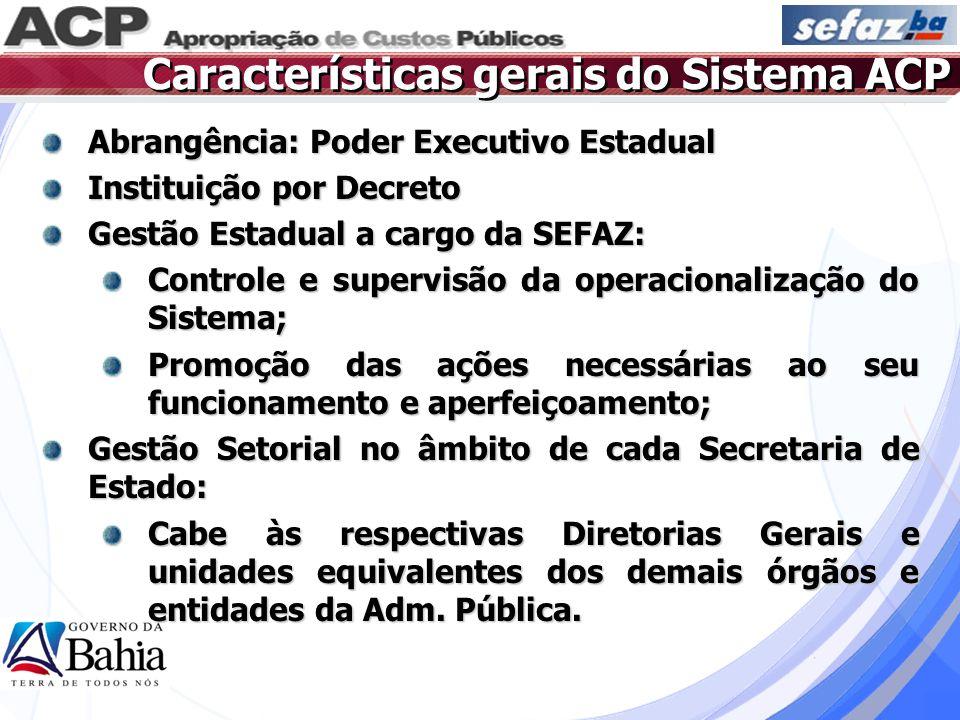 Características gerais do Sistema ACP