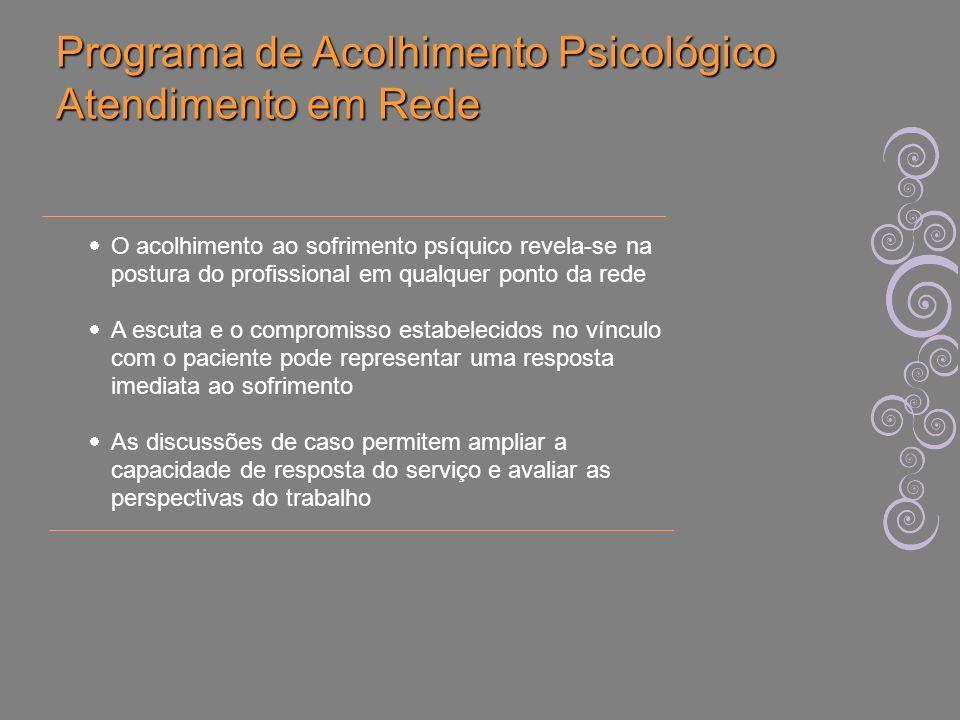 Programa de Acolhimento Psicológico Atendimento em Rede