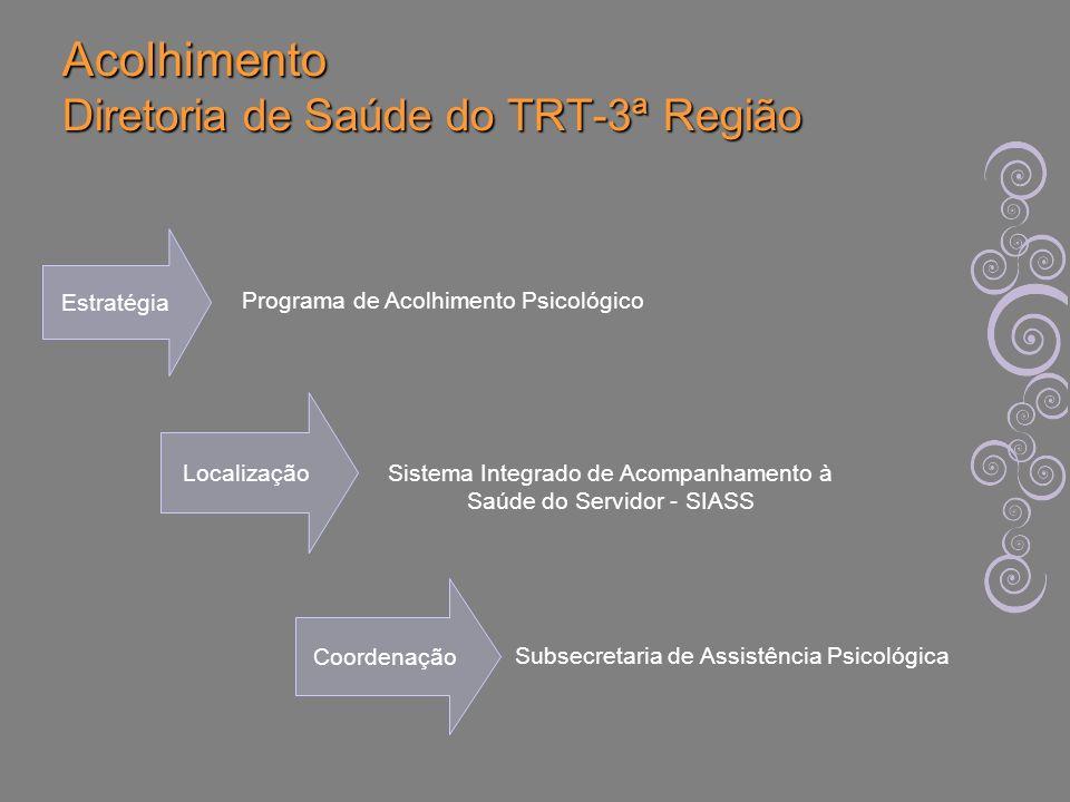Acolhimento Diretoria de Saúde do TRT-3ª Região