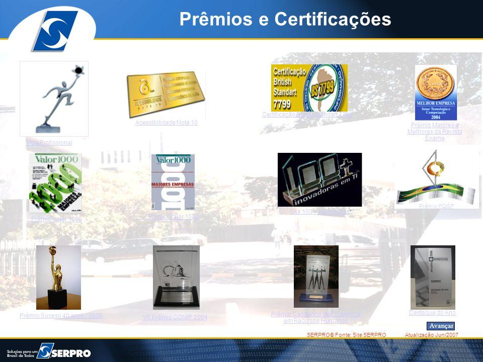 Prêmios e Certificações