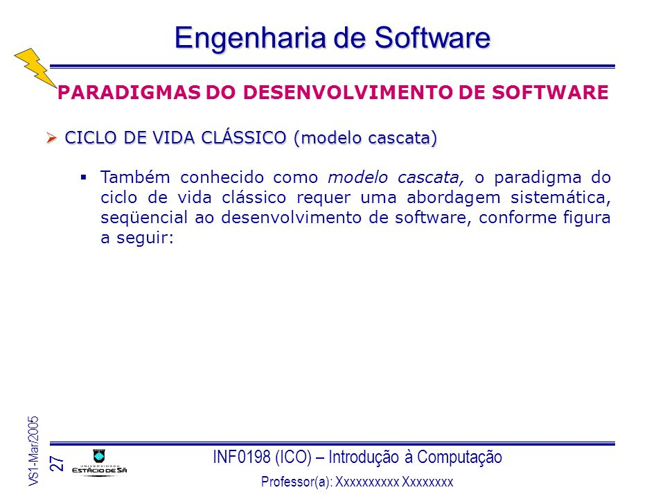 PARADIGMAS DO DESENVOLVIMENTO DE SOFTWARE