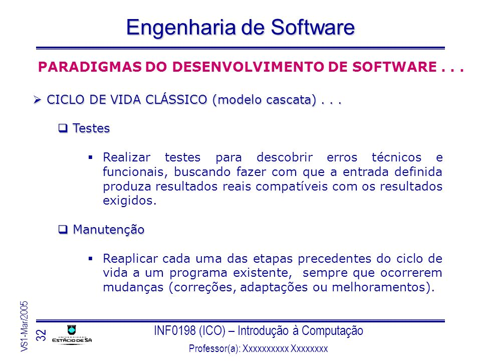 PARADIGMAS DO DESENVOLVIMENTO DE SOFTWARE . . .