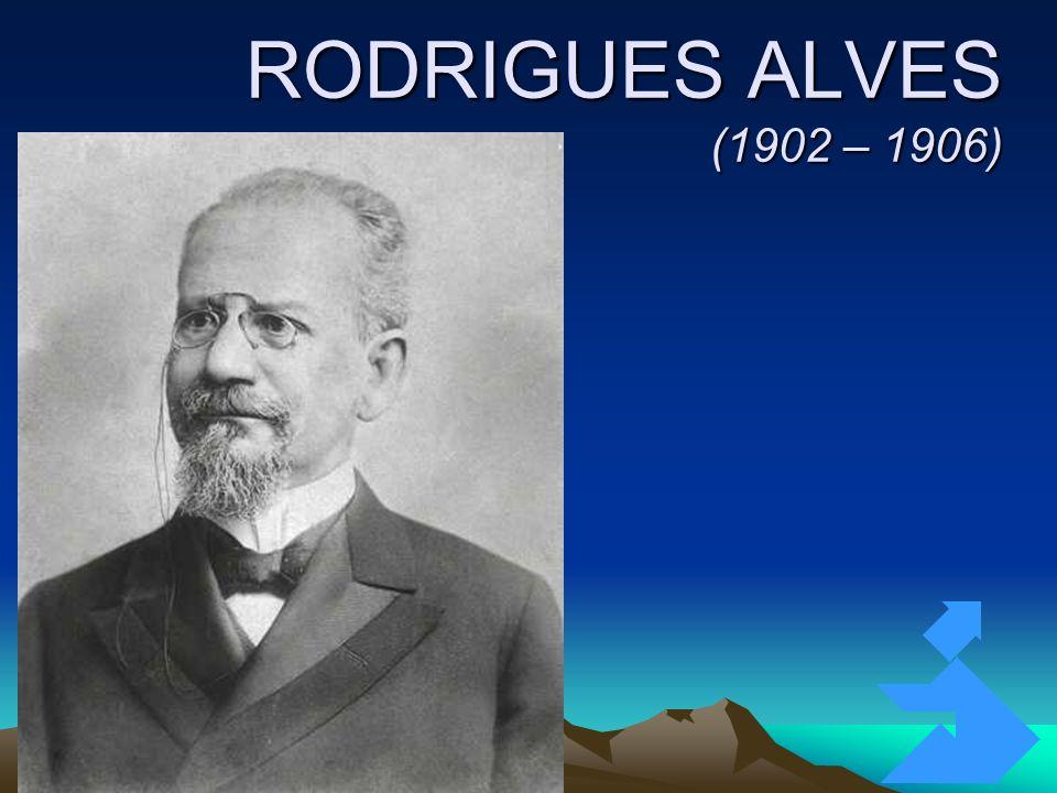 RODRIGUES ALVES (1902 – 1906) Clique para adicionar texto 3/26/2017