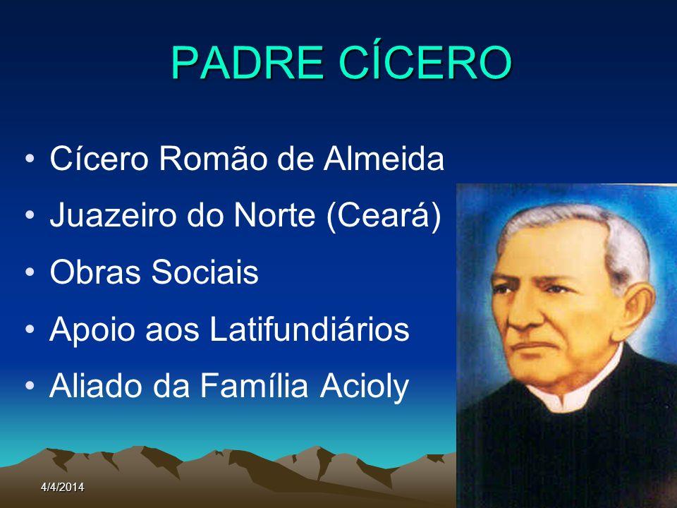 PADRE CÍCERO Cícero Romão de Almeida Juazeiro do Norte (Ceará)