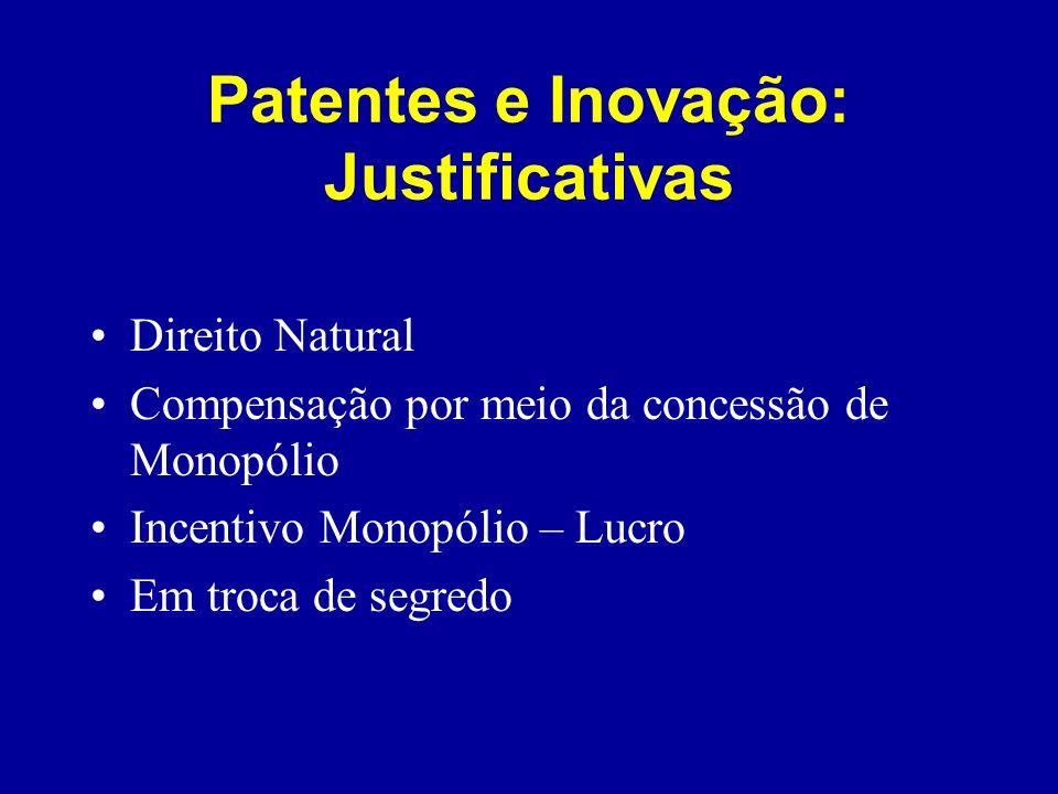 Patentes e Inovação: Justificativas