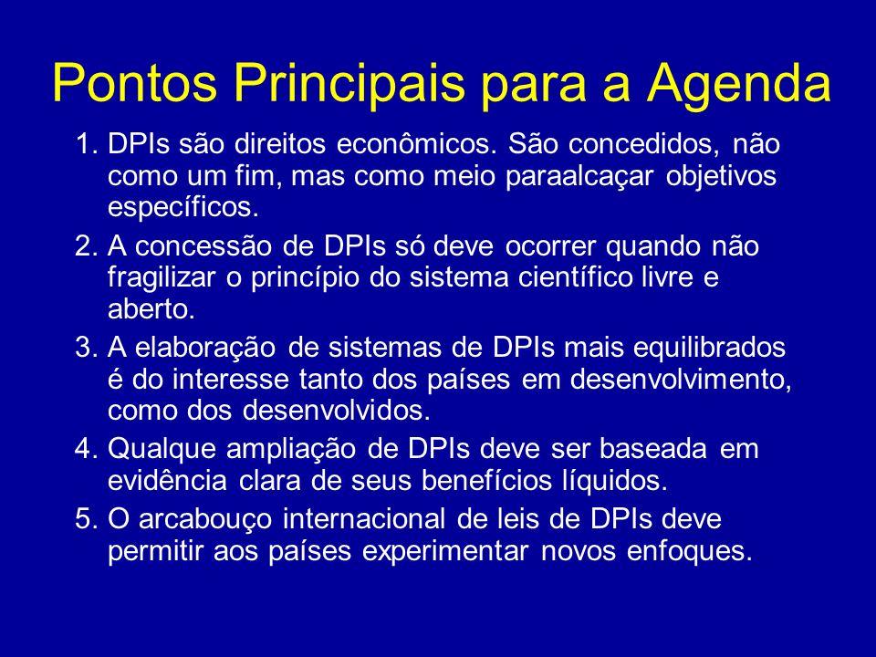 Pontos Principais para a Agenda