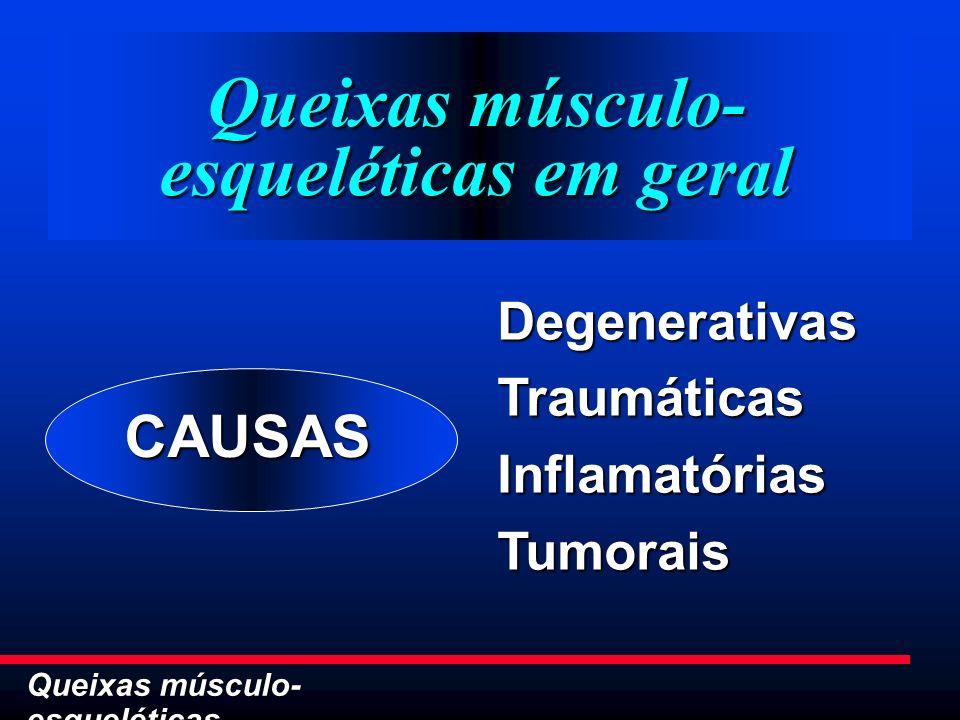 Queixas músculo-esqueléticas em geral