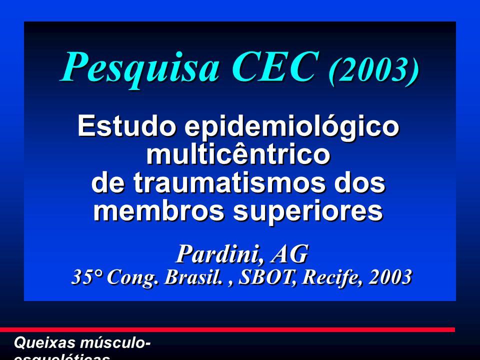 35° Cong. Brasil. , SBOT, Recife, 2003