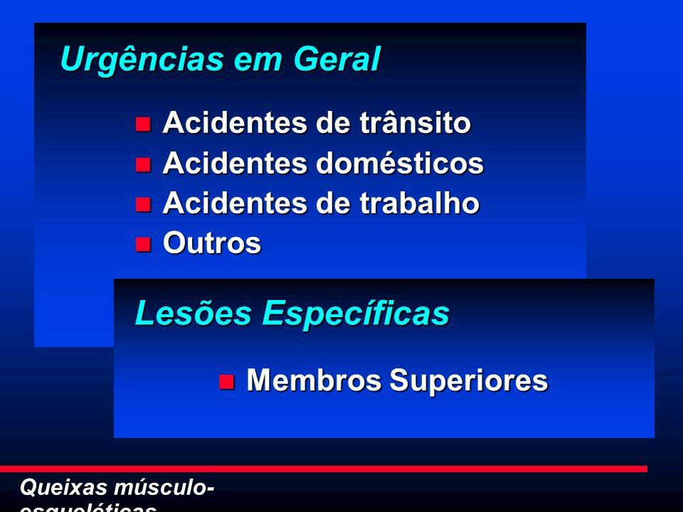 Urgências em Geral Lesões Específicas Acidentes de trânsito