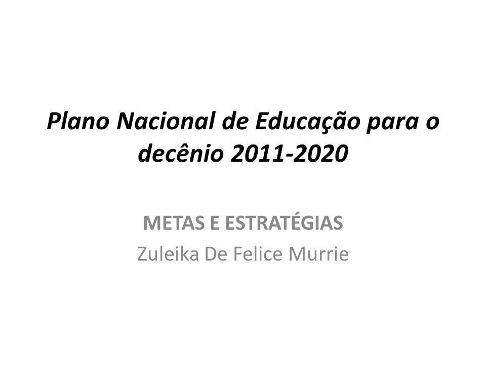 Plano Nacional de Educação para o decênio 2011-2020
