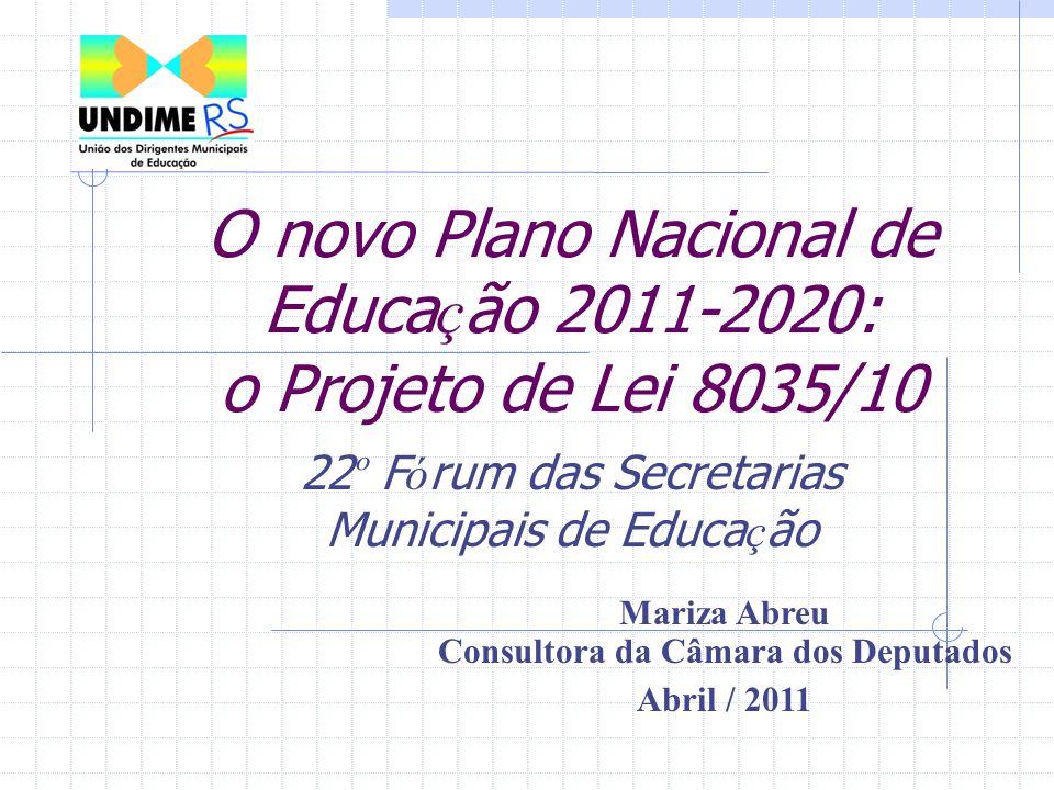 O novo Plano Nacional de Educação 2011-2020: o Projeto de Lei 8035/10