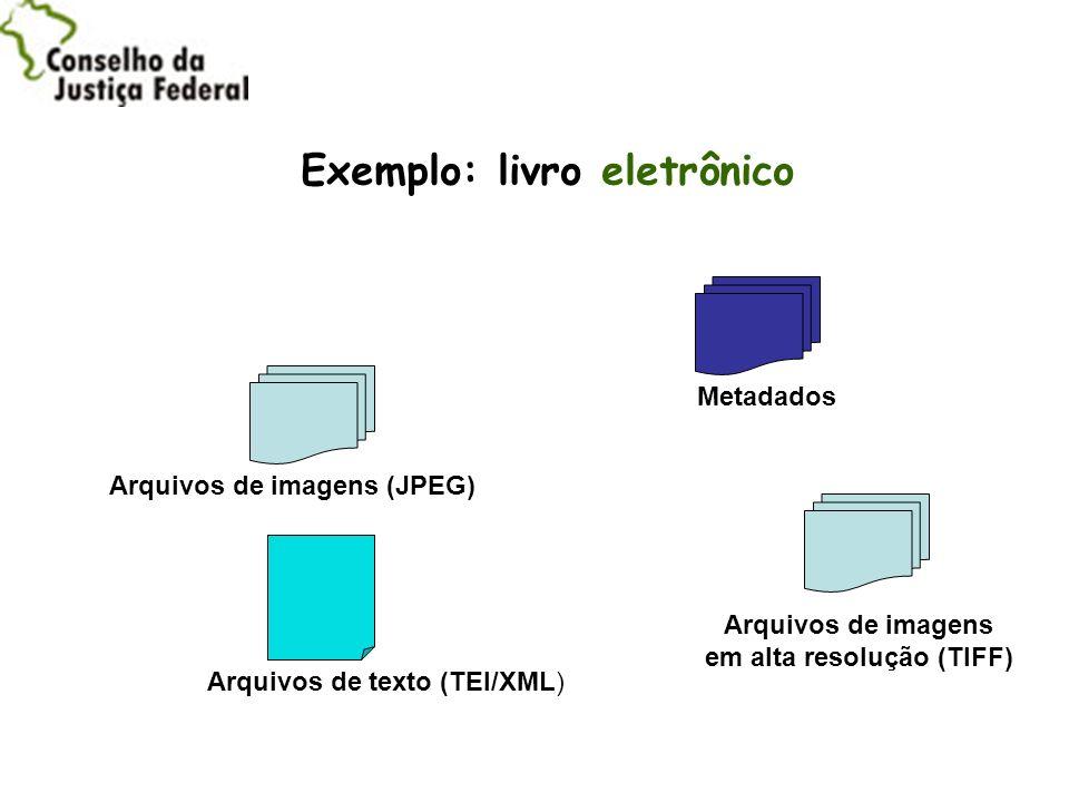 Exemplo: livro eletrônico em alta resolução (TIFF)