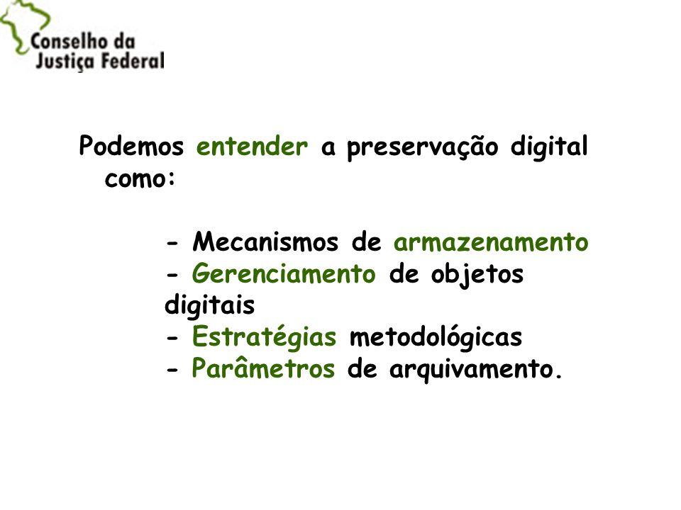 Podemos entender a preservação digital como: