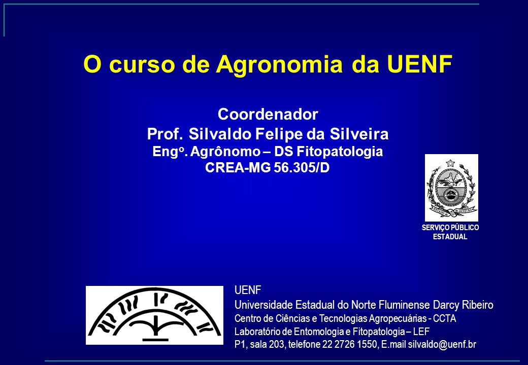 O curso de Agronomia da UENF