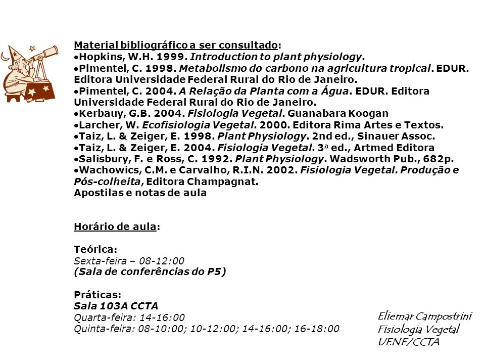 Eliemar Campostrini Fisiologia Vegetal UENF/CCTA