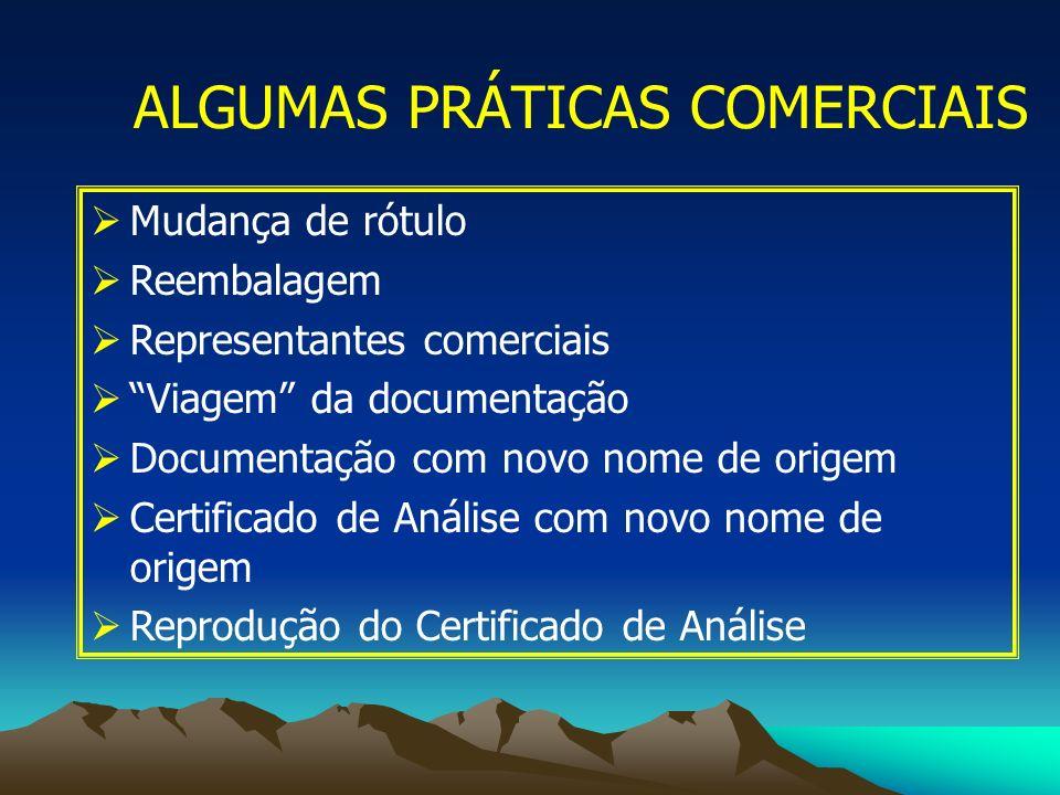 ALGUMAS PRÁTICAS COMERCIAIS