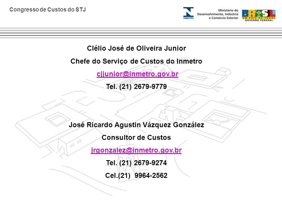 Clélio José de Oliveira Junior Chefe do Serviço de Custos do Inmetro