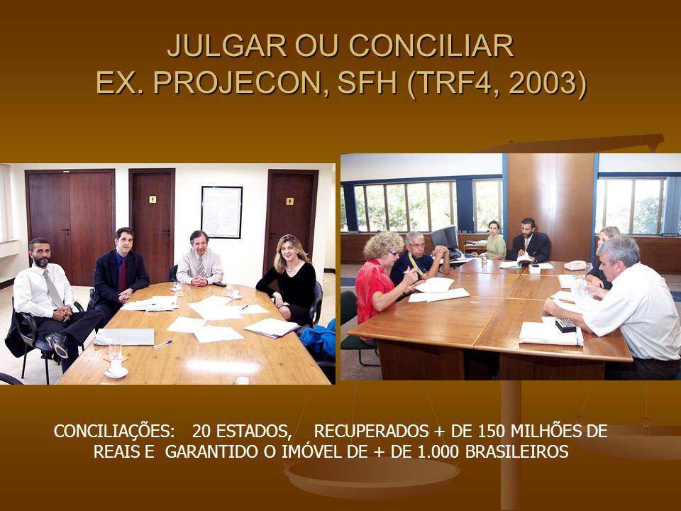 JULGAR OU CONCILIAR EX. PROJECON, SFH (TRF4, 2003)