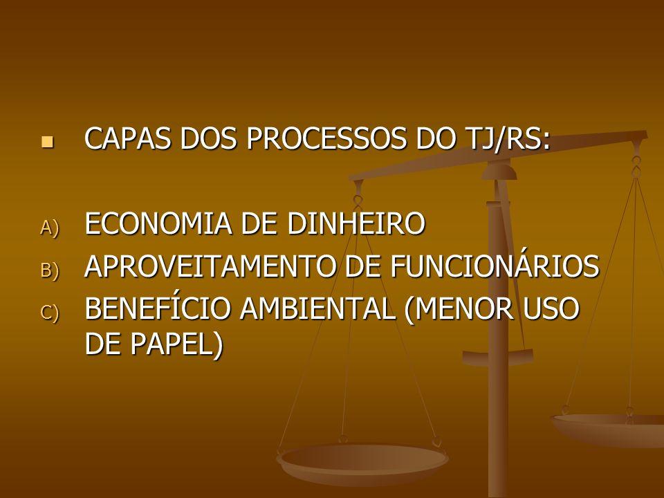 CAPAS DOS PROCESSOS DO TJ/RS: