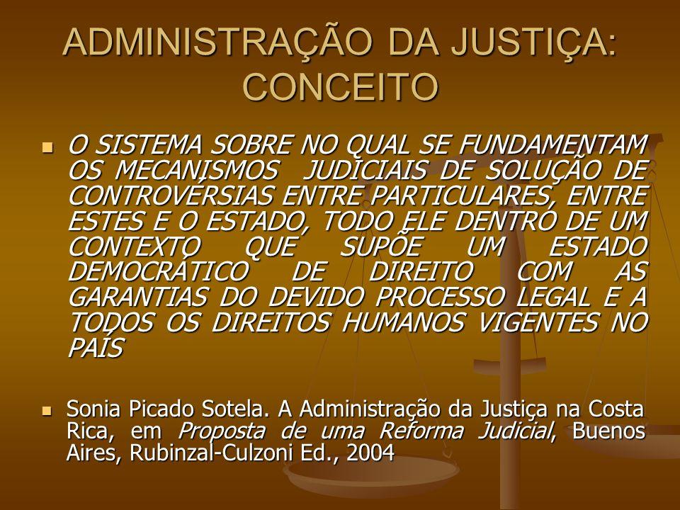 ADMINISTRAÇÃO DA JUSTIÇA: CONCEITO