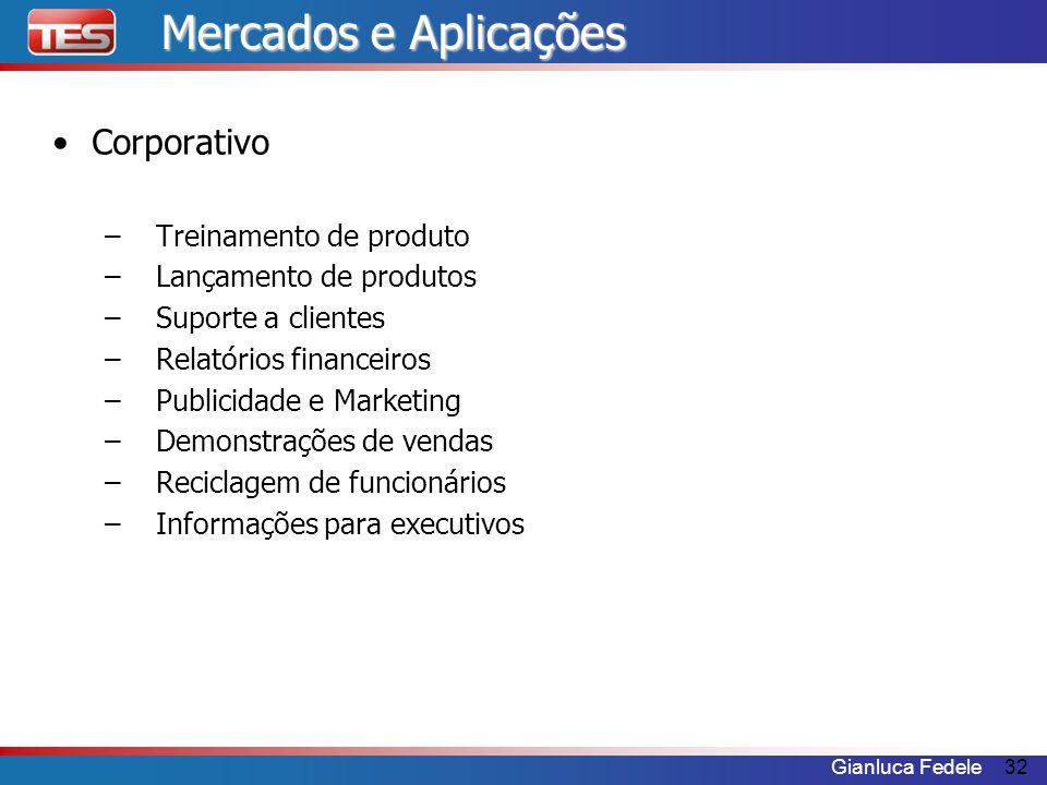Mercados e Aplicações Corporativo Treinamento de produto