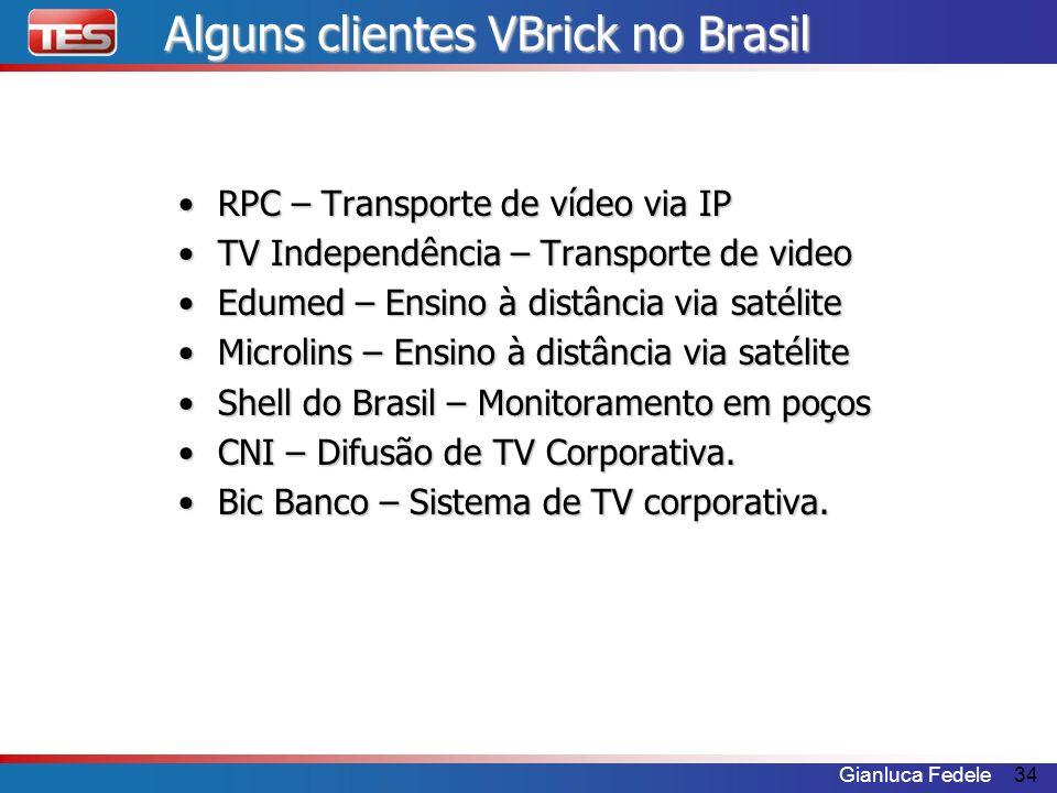 Alguns clientes VBrick no Brasil