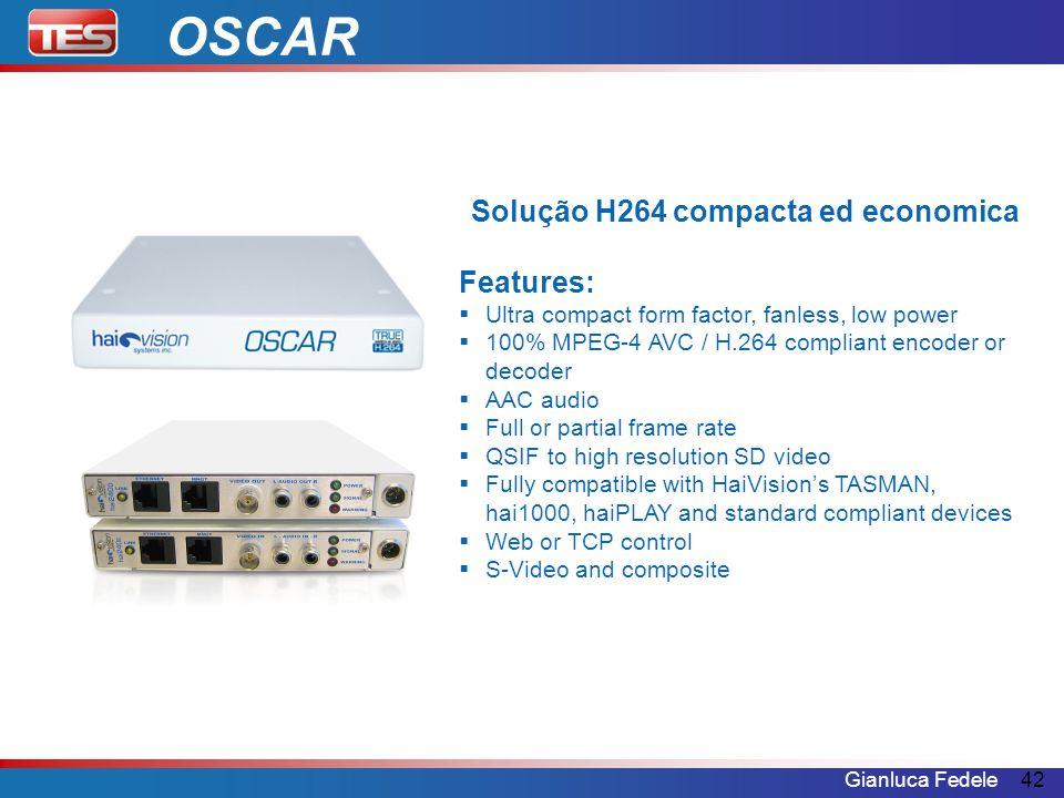 Solução H264 compacta ed economica