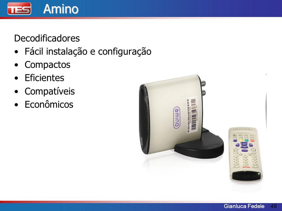 Amino Decodificadores Fácil instalação e configuração Compactos
