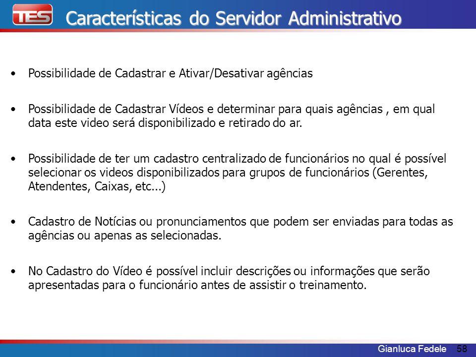 Características do Servidor Administrativo