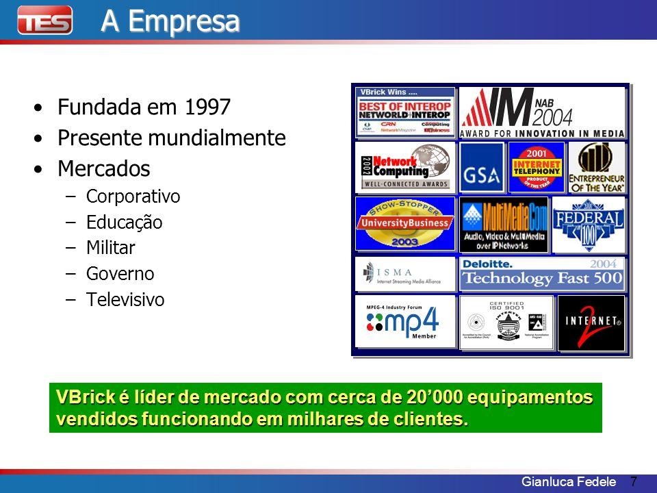 A Empresa Fundada em 1997 Presente mundialmente Mercados Corporativo